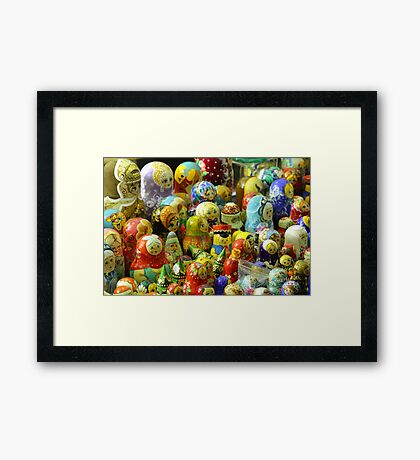 Lincoln Christmas Market Russian Dolls Framed Print