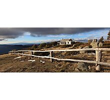 Craig's Hut, Winter Afternoon, Mt Stirling, Australia Photographic Print