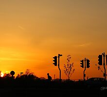 Tritton Road Sunset by Jonathan Cox