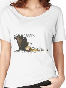 calvin and hobbes tree Women's Relaxed Fit T-Shirt