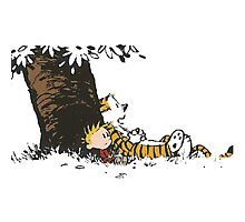 calvin and hobbes tree Photographic Print