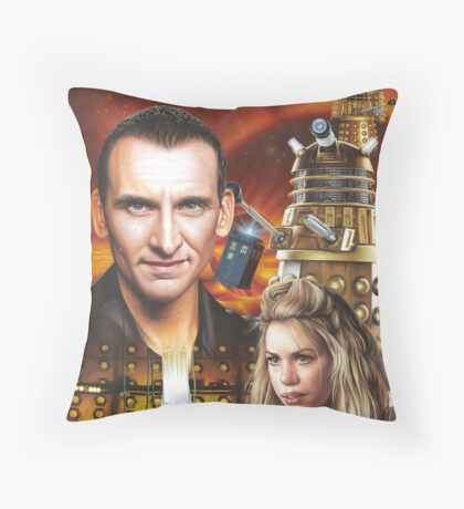 Christopher Ecclestone the 9th Doctor Throw Pillow