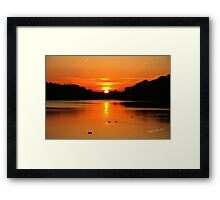 Swithland Reservoir Sunset Framed Print