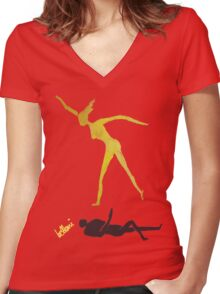 The Danavi, Returns Women's Fitted V-Neck T-Shirt