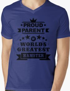 Proud parent of world's greatest hamster shirts and phone cases Mens V-Neck T-Shirt