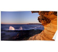Maroubra Rock Face Poster