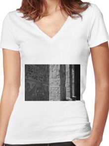 Walking with ghosts  Women's Fitted V-Neck T-Shirt