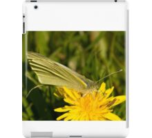 Green veined white butterfly iPad Case/Skin