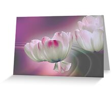 Flying petals Greeting Card