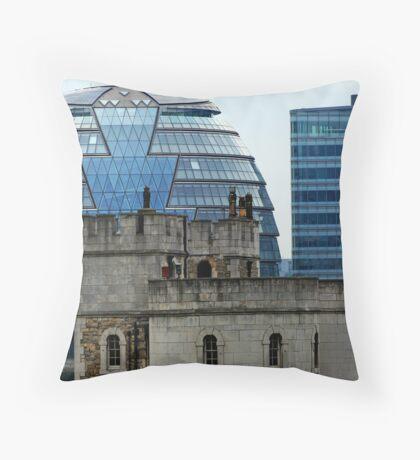 Clash of Centuries Throw Pillow