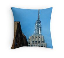Iconic Empire State Building Throw Pillow