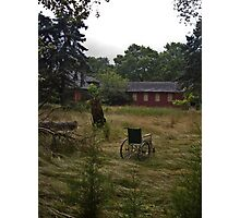 Wheelchair in the grass Photographic Print