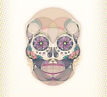 Skull - circular by lazylaves