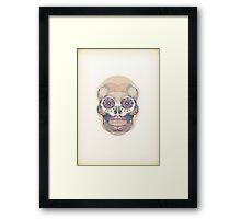 Skull - circular Framed Print