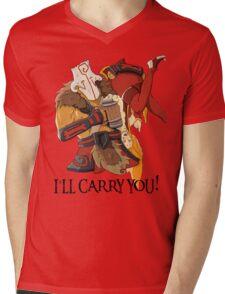 """Dota2 Juggernaut & Lina """"Bar carry"""" Mens V-Neck T-Shirt"""
