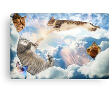 Heavenly Cats Canvas Print