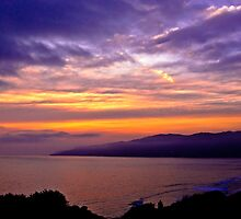 Sunset over the Point Dume , CA by LudaNayvelt