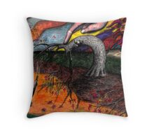 Leaf Blowin' Throw Pillow