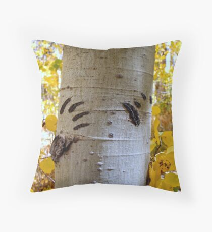 Black Bear Was Here Throw Pillow