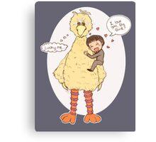 Romney Loves BigBird Canvas Print