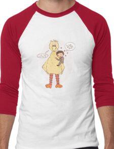 Romney Loves BigBird Men's Baseball ¾ T-Shirt