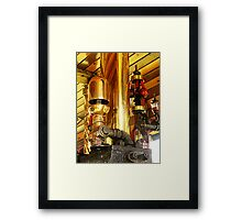 Traction engine whistle and governor Framed Print