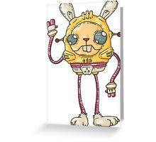 Robo Bunny Greeting Card