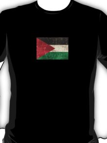 Vintage Aged and Scratched Palestinian Flag T-Shirt