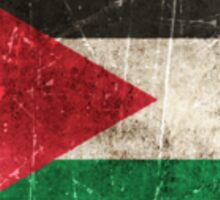 Vintage Aged and Scratched Palestinian Flag Sticker