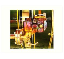 Traction engine brasswork Art Print