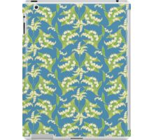 Lily of the Valley Pattern on Blue iPad Case/Skin