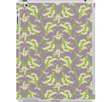 Lily of the Valley Pattern on Mauve iPad Case/Skin