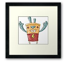 Robo Battery Framed Print