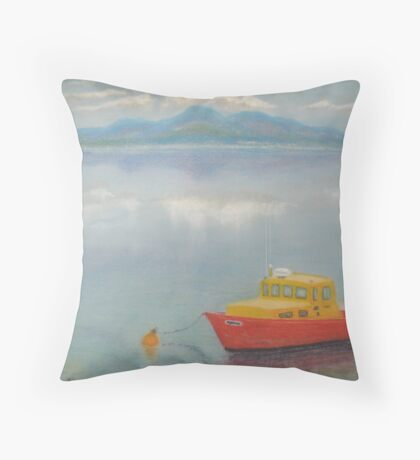 Dundrum Bay and the Mountains of Mourne Throw Pillow