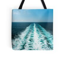 Wake From a Cruise Ship Tote Bag