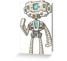 Star Trek Robot Greeting Card
