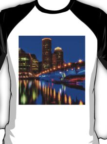 Night of Blue - Fort Point Channel, Boston T-Shirt