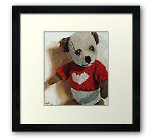 Frank -teddy bear painting Framed Print