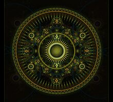 """Metatron's Magick Wheel"" - Fractal Art by Leah McNeir"