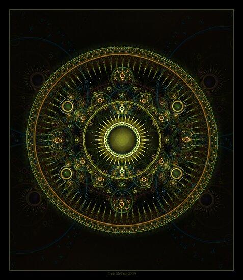 """Metatron's Magick Wheel"" - Fractal Art by Leah McNeir"