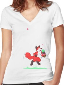 The Power of Ice Cream Women's Fitted V-Neck T-Shirt