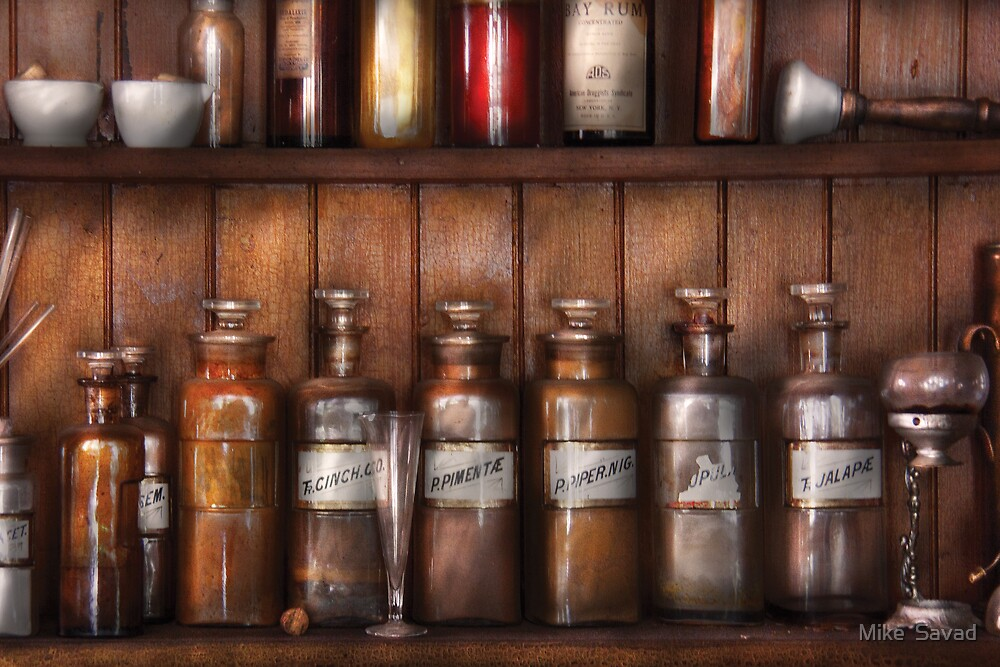 Pharmacist - In a Pharmacists Lab  by Mike  Savad
