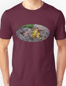 Pika Carrying Wildflowers Unisex T-Shirt