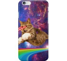 Laser cat in space  iPhone Case/Skin