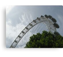 London Eye Against A Blue Sky Canvas Print
