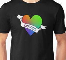 Lover's Heart (Black)  Unisex T-Shirt