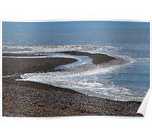 Sea Movement. Seaton.Devon,UK Poster