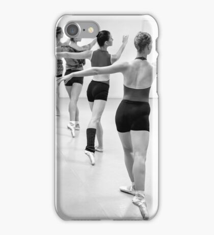 Four female dancers during a ballet rehearsal iPhone Case/Skin