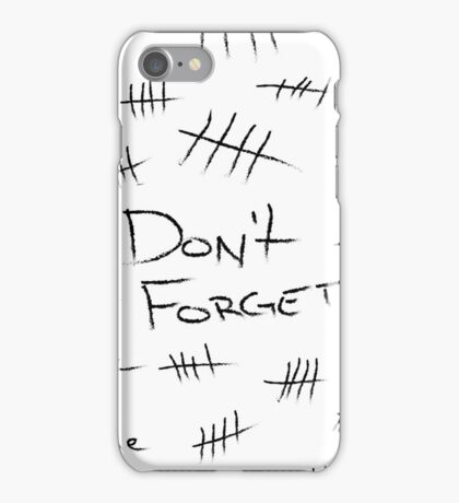 Silence - Black Marker iPhone Case/Skin