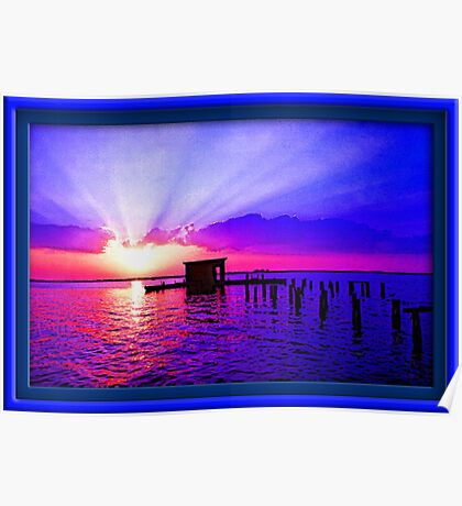Florida Summer Sunset Poster